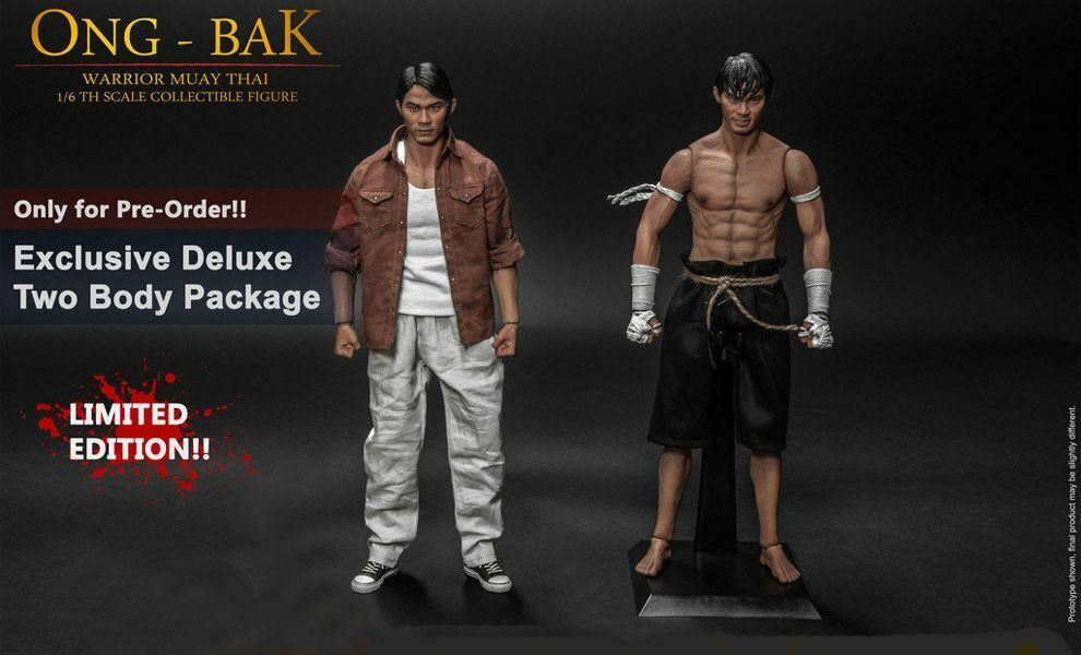 Ong-Bak Muay Thai Warrior 1  6 Scale Deluxe Version with 2° corpo + Marroneee scatola RARE  servizio onesto