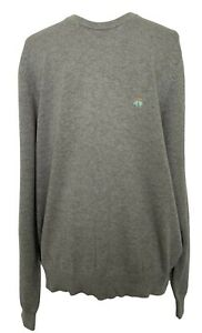 NEW-BROOKS-BROTHERS-MEN-039-S-GRAY-SUPIMA-COTTON-SWEATER-L-195