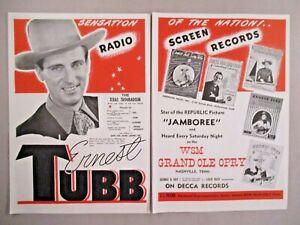 Ernest Tubb double-page print ad - 1944-afficher le titre d`origine ngqh0oAB-09093150-804229419