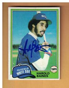 Harold Baines Autographed 1981 Topps Rookie Baseball Card Signed CHICAGO WHITE