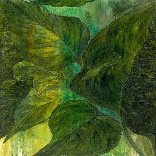 Per 1//4 Metre Unas Garden Pauls Glory Patchwork Fabric Green