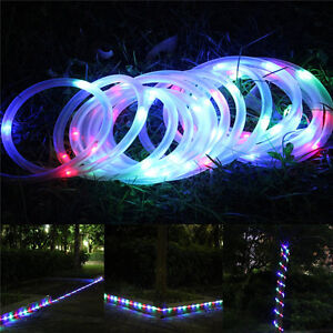 Multi coloured 7m solar rope light led rgb garden outdoor patio image is loading multi coloured 7m solar rope light led rgb aloadofball Images