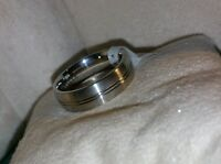 Mens Scott Kay Artiste Brute Cobalt Bioblu 27 Wedding Brushed Band Ring $325