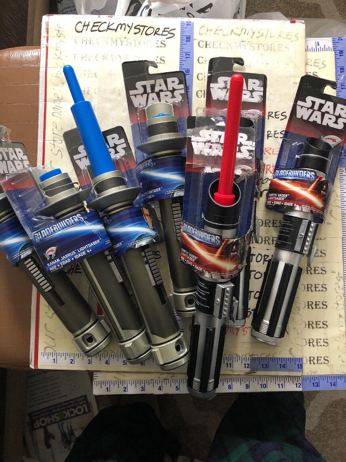 Estrella WARS KANAN JARRUS Sable de Luz Azul 4X Nuevo & 3 xdarth Vader lightsbar Rojo