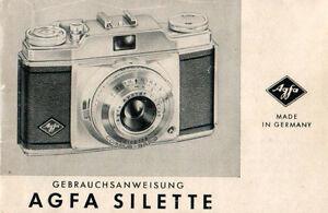 AGFA Silette - Gebrauchsanweisung - B1985