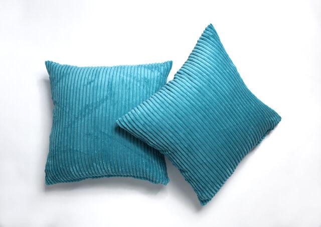 "A Pair Of 18""x18"" Chenille Stripe Cushion Covers"