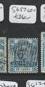 NORTH BORNEO (P2207B) 6C/10C SG57 VFU