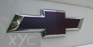 Car & Truck Parts Chevy Bowtie Emblem Overlay CARBON FIBER Sheets Vinyl Decal Wrap Sticker Set 2 Auto Parts & Accessories