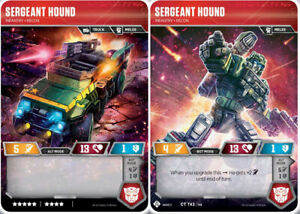 Mint//NM from set War for Cybertron S Transformers TCG Full-Tilt //// Base Recon
