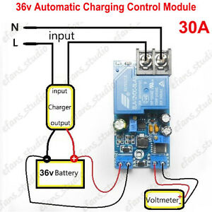 36V 30A Automatic Battery Charger Protection Module Auto