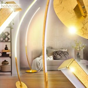 LED Design Steh Stand Boden Leuchten Lese Wohn Schlaf Zimmer Büro Lampen Gold