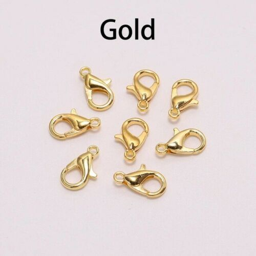 DIY Jewelry Makings#50pcs Alloy lobster Clasp Hooks For Necklace Bracelet Chain