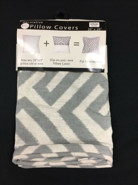Bed Bath & Beyond Decorative Throw Pillow Cover  Keyes Grey for