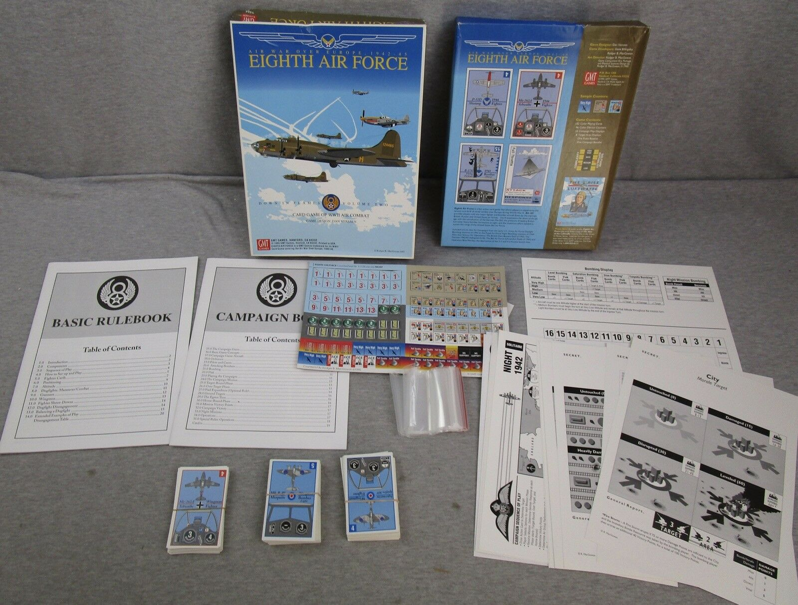 GMT Games Air War over Europe 1942-45 Eight Air Force vol 2 Complete 1995