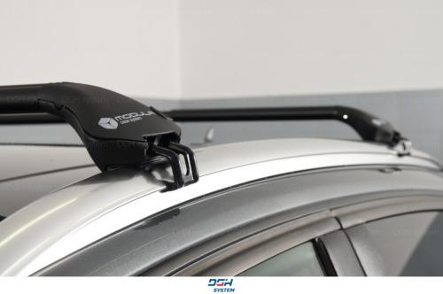 Für Hyundai ix35 10-13 mit geschlossener Dachreling Dachträger Alu schwarz