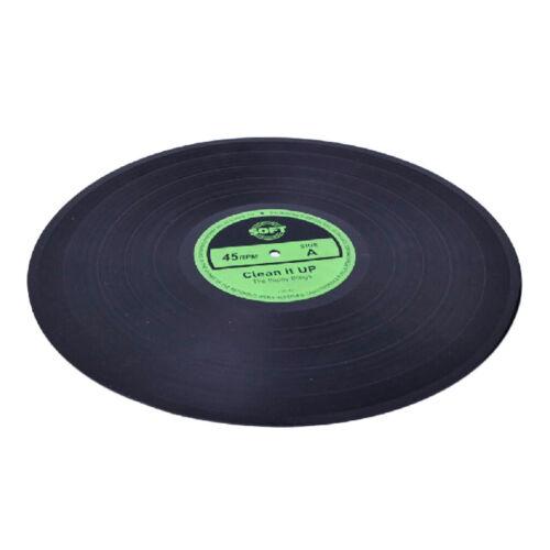 Retro Table Mat Pad Vinyl Record Non-slip Coasters Kitchen Placemat Dia30cm