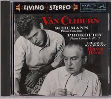 SCHUMANN, PROKOFIEV: Piano Concerto, Van Cliburn Reiner RCA LIVING STEREO CD NM