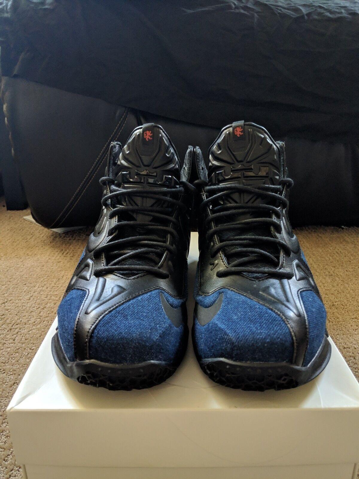 Men's Nike Lebron XI 11 EXT Denim QS Size 8.5 659509 004