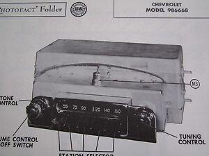 1953 CHEVROLET 986669 RADIO PHOTOFACT