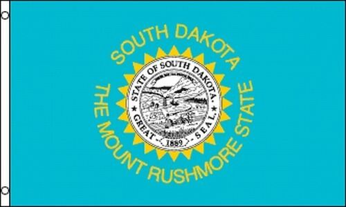 State of South Dakota Flag 3x5 ft with Metal Grommets Mount Rushmore SD NEW