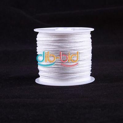 1 Roll 45M Nylon Cord Thread Knot Macrame Braided Cord 0.8MM white/black/red
