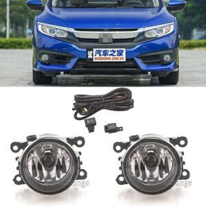 Pair-Daytime-Light-Fog-Lamps-Harness-Wiring-Kit-For-Honda-Civic-10th-2016-2017