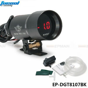 37mm-Smoke-Turbo-Boost-BAR-Red-Digital-Shift-Light-Style-Gauge-Meter-Pod-Red-LED