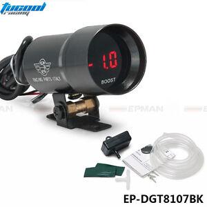 37mm-Smoke-Turbo-Boost-BAR-Red-Digital-Shift-Light-Style-Gauge-Meter-Pod-Red-LED