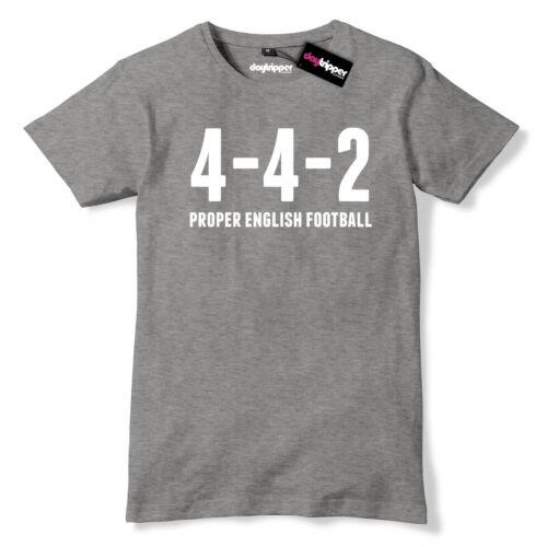 4-4-2 Proper English Football Mens Premium T-Shirt World Cup Funny Slogan