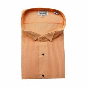 """NEW Men/'s Wing collar Tuxedo Shirt with Bow tie 1//8/"""" pleat /& Convertible Cuffs"""