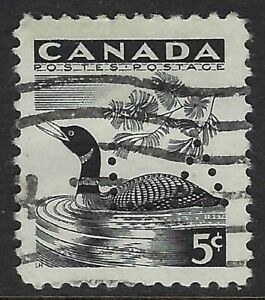 Perfin-L1-LA-Legislative-Assembly-Scott-369-5c-Common-Loon-Position-1