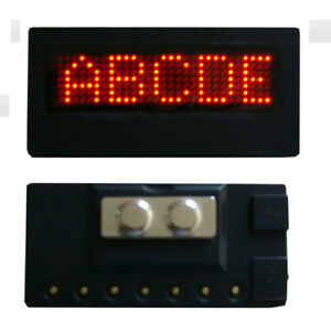 Sign-Display-Scrolling-Programmable-LED-Name-Tag-Name-Badge-Message-Promotions-R
