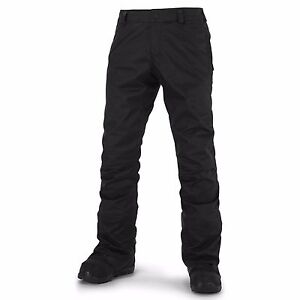 2016-NWT-MENS-VOLCOM-KLOCKER-TIGHT-SNOWBOARD-PANTS-XL-black-waterproof