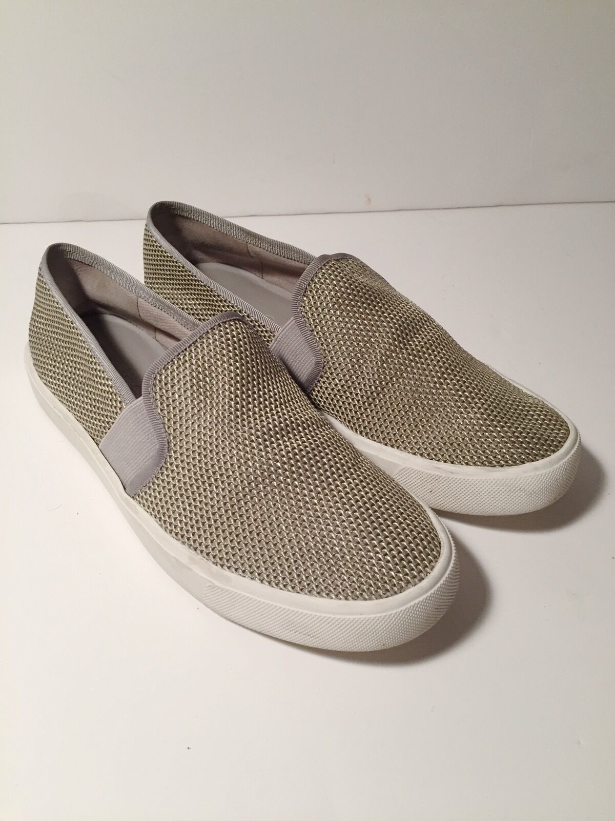 Damens's Vince Blair Woven Canvas Slip-On Sneakers Oyster 36 / 6 ROTUCED