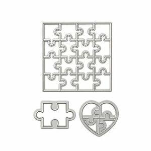 Heart Puzzle Metal Cutting Dies Paper Album Card Decoration Craft Scrapbooking