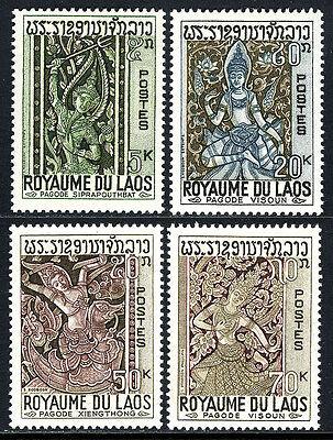 Mnh.sculptures De Siprapouthbat 1967 Dependable Performance Selfless Laos 141-144 Xiengthong Templos Visoun