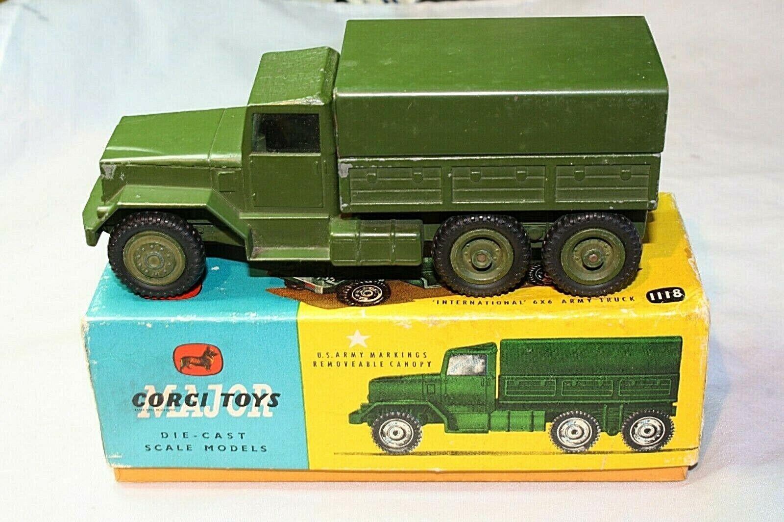 CORGI 1118 6X6 camion, Bon escroc réédition dans boîte d'origine
