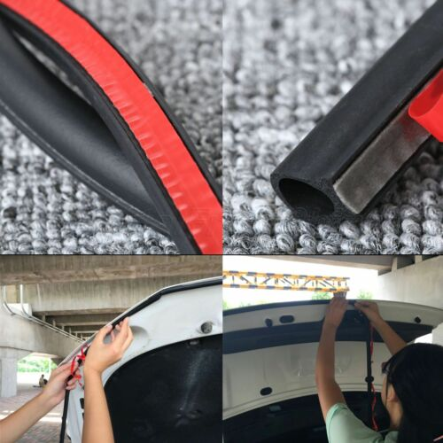 8M Car Truck Motor Door Big D-shape Rubber Seal Weather Strip Hollow Universal