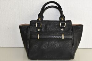 Hardware Handbag W Shoulder Bag Deux Purse Lur Black Gold Satchel New SVpGqMUz