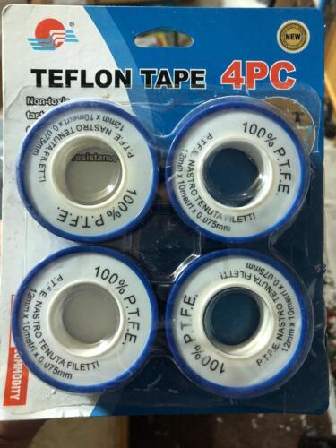 12mm x 10m New Teflon Tape Role PTFE Tape Joint Thread Sealing Plumber UK SELLER