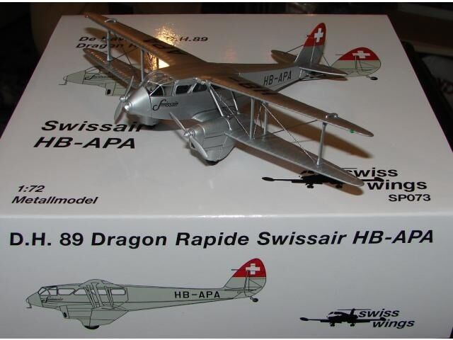 Swissair D.H. 89 Dragon Rapide (HB-APA), SwissWings, 1 72