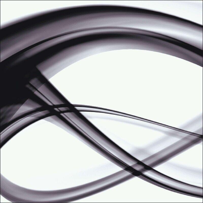 Glas Wand Bild Benedict Bocos Abstrakte Motive Digitale Kunst Schwarz Weiß A6AD