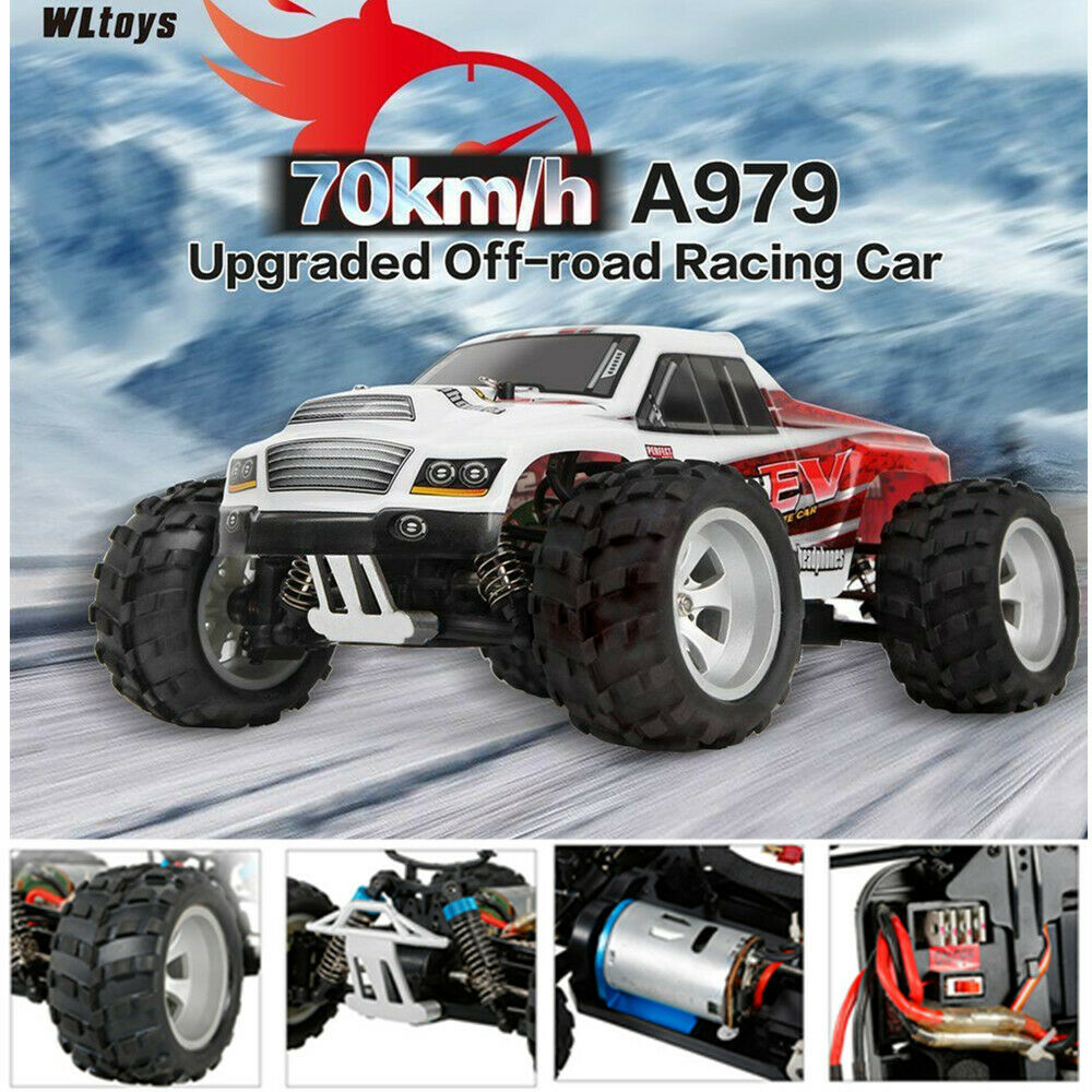 WlJuguetes a979-b 2.4g 1 18 RC auto 4wd 70km h Elektro Truck RC Crawler rtr Coche p7c0
