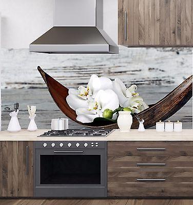 Küchenrückwand SP691 Orchidee Acrylglas Spritzschutz Herd  Fliesenspiegel