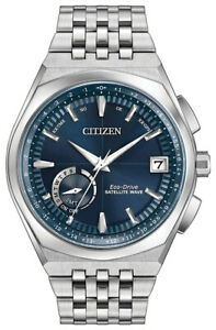 Citizen Eco-Drive Satellite Wave Men's World Time GPS 44mm Watch CC3020-57L