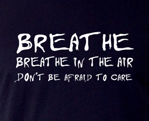 Details about Pink Floyd T-Shirt•BREATHE•Dark side of the moon album  lyrics•GR8 Fun gift idea