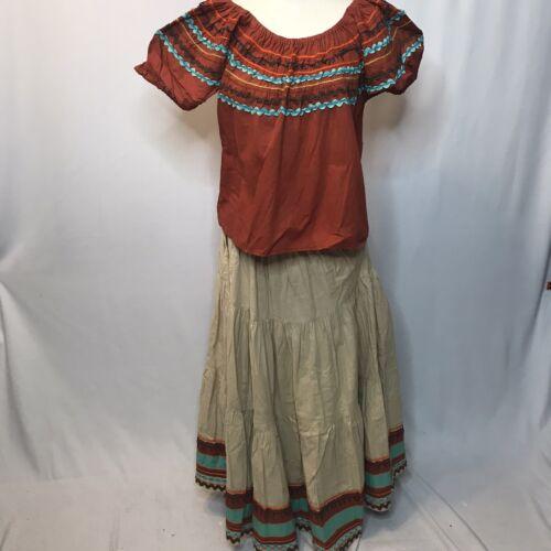 Vintage 40s 50s Dimonds NM Mexican Circle Peasant