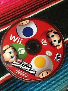 New-Super-Mario-Bros-Wii-Nintendo-Wii-2009-Tested-and-Working-Disc-Only