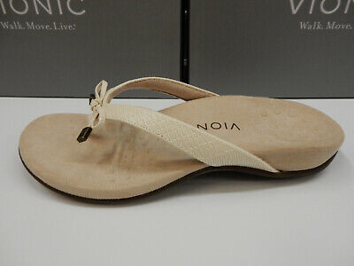 Vionic Bella II Cream Woven Flip Flop Sandal Women/'s US sizes 5-11 NEW!!!