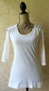 STARING AT STARS S COTTON BLEND WOMEN'S KNIT TOP BLOUSE URBAN OUTFITTERS IVORY